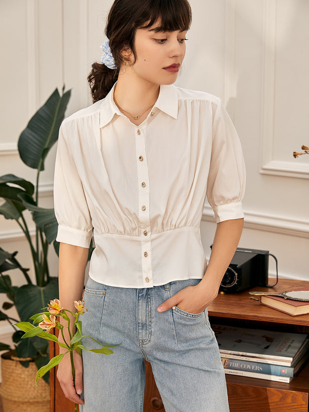 Lydia White Blouse