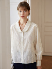 Victoria 100% Cotton Peter Pan Collar Shirt