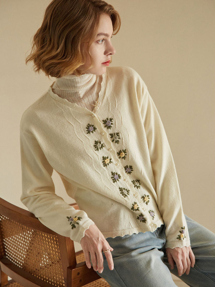 Eranthe Handmade Embroidery Knitwear/Simple Retro/22147