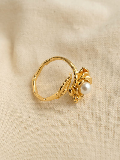 Floral Pearl Ring/Simple Retro/33287