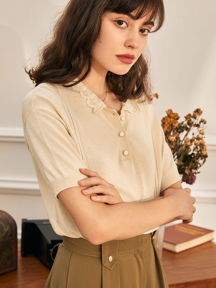 Hazel  Embroidered Polo Shirt