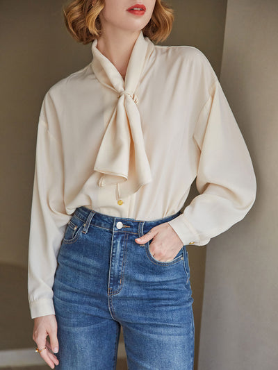 Phedra Chiffon Blouse/Simple Retro/11166