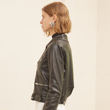 2019 New Simple Retro Slim Sheepskin Leather Jacket