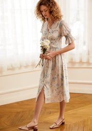 Elina Chiffon Tea Dress