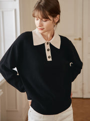 Selena 100% Wool Knitwear-Black