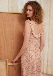 Loane Printed Dress-Corinthian Pink