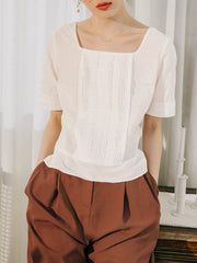 Kathryn White Cotton Blouse