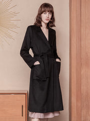 Adele Wool Coat - Black
