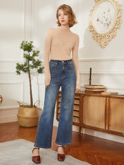 Gina 100% Wool Bottoming Top-Apricot