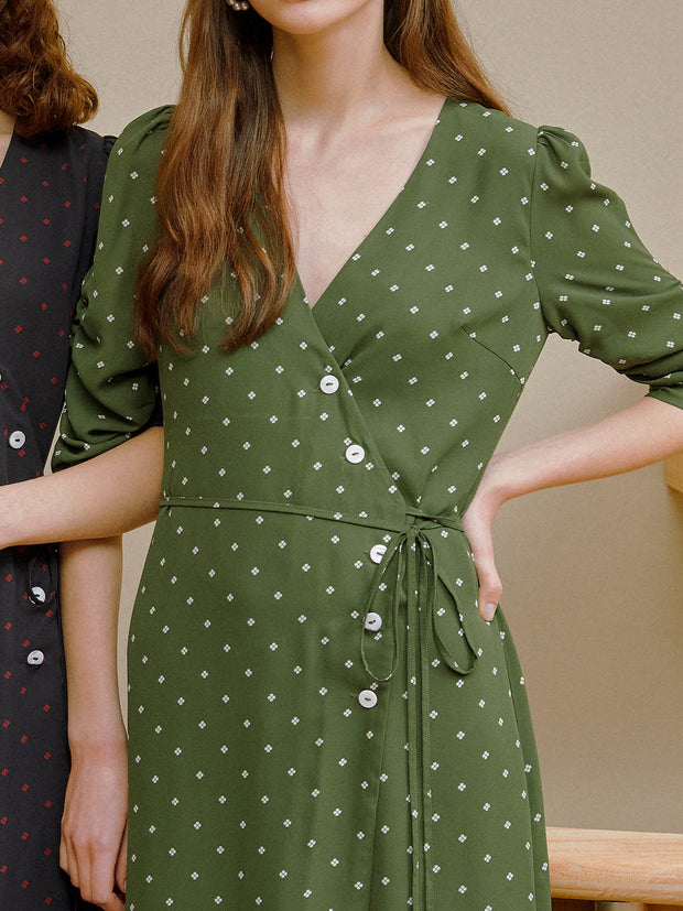 Jade Chiffon Tea Dress