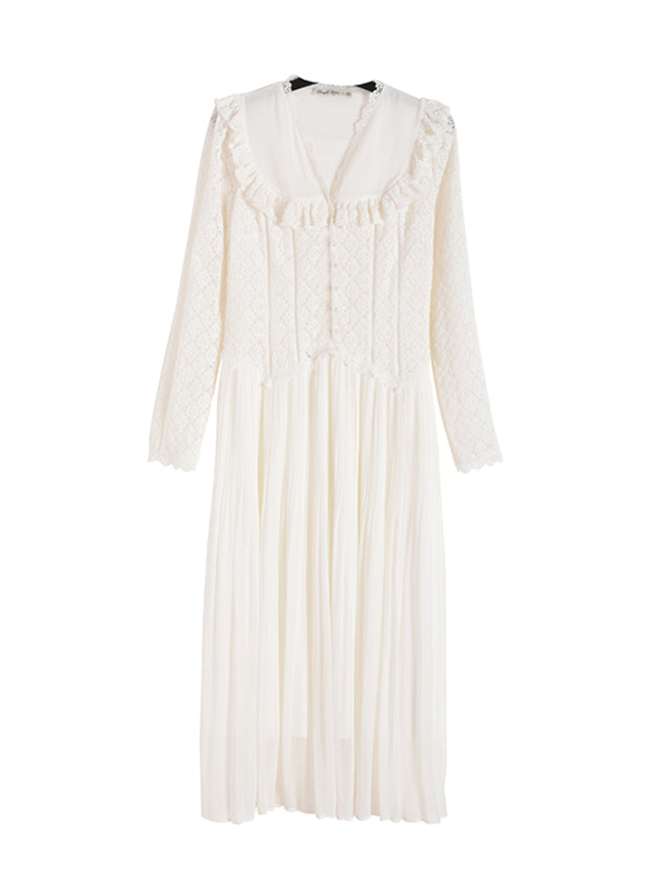 Edith Vintage Lace Dress