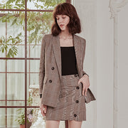 Lila Suit - Brown Plaid & Black