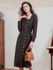 Elaine Square Neck Dress