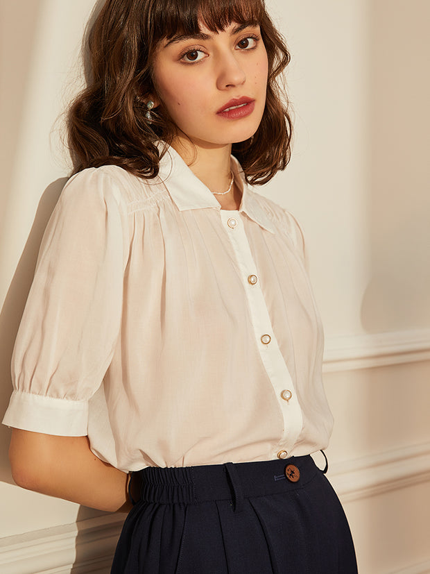 Ursula Bubble Sleeves Blouse