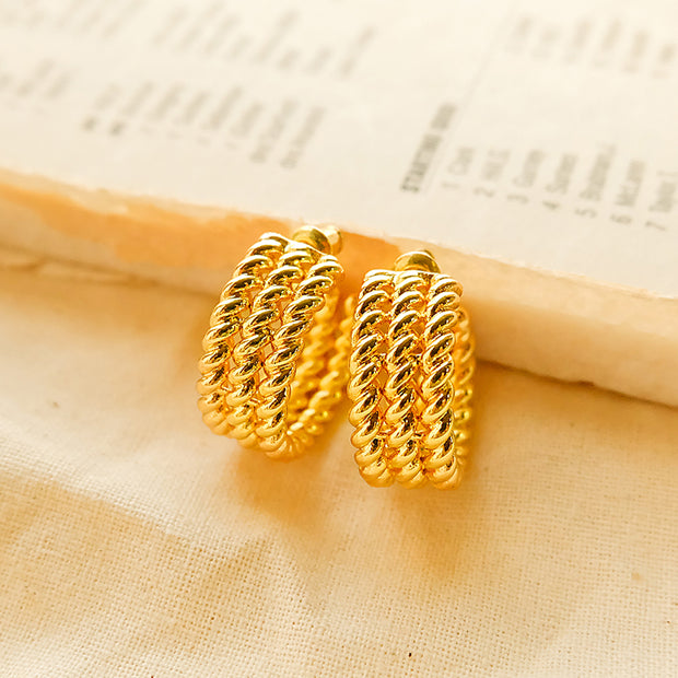 Gina Twist Gold-Plated Earring