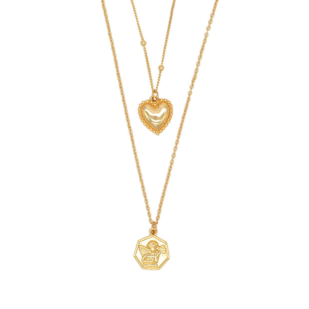 Angel Love Double Necklace