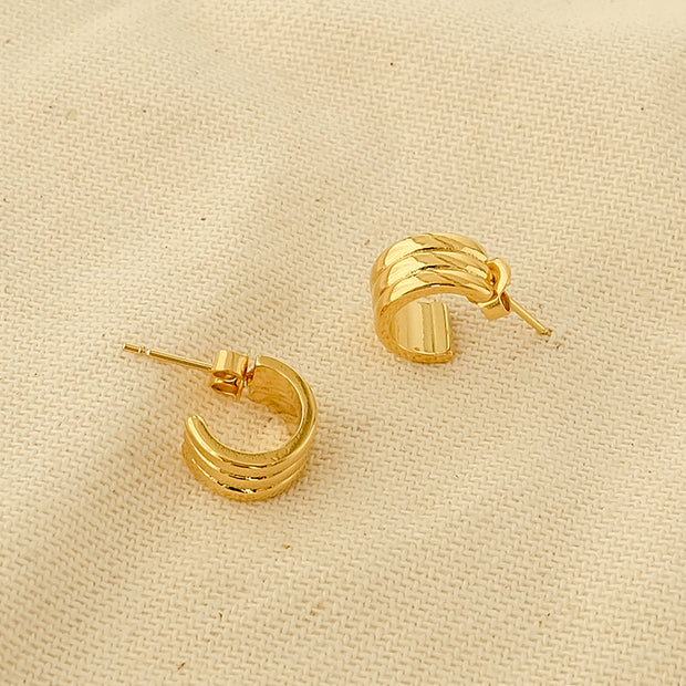 Hoops  Gold-Plated Earring