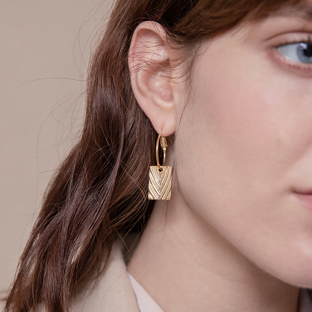 Danae Gold-Plated Coin Earrings