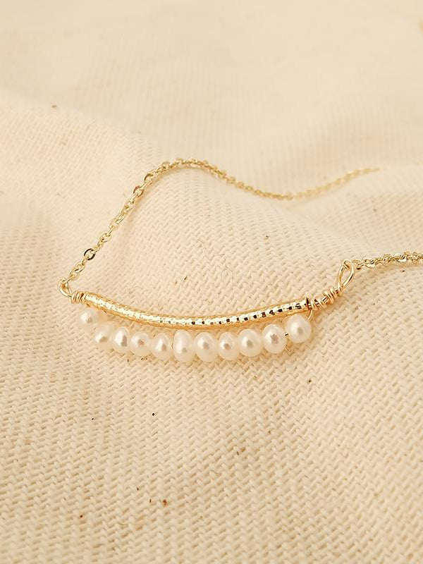 Jade Baroque Pearl Necklace