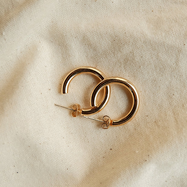 Ann Gold-Plated Loop Earrings
