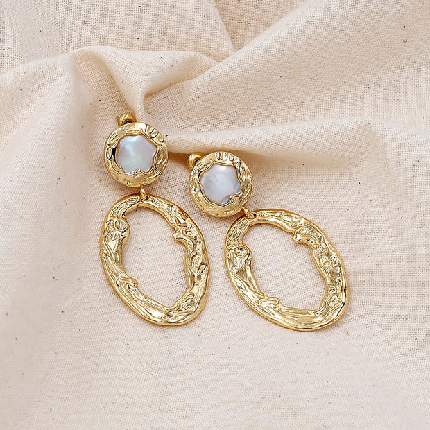 Vanessa Baroque Pearl Earrings