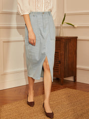 Ashley  High-rise Denim skirt