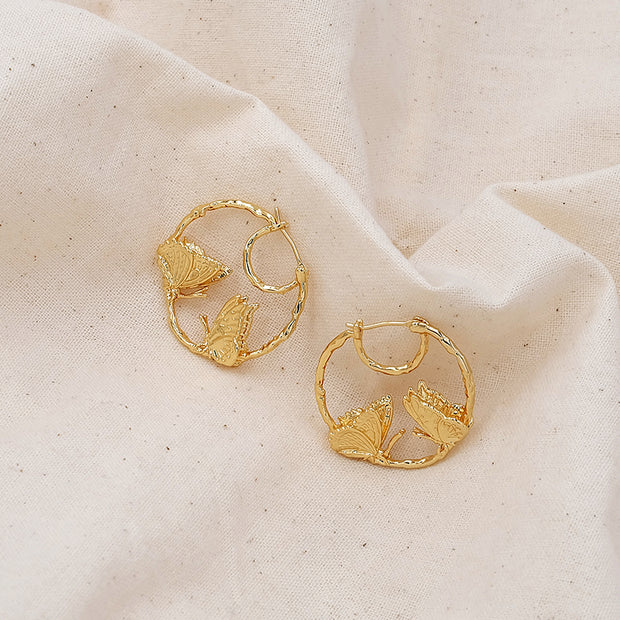 Cassiel Butterfly Hoop Earrings