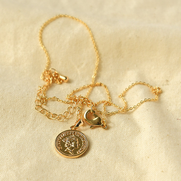 Elisabeth Gold Coin Necklace
