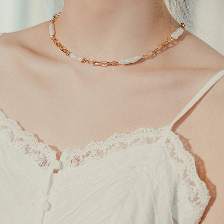 Shaped Pearl Necklace