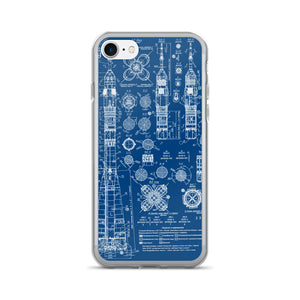 Soyez Rocket Blueprint iPhone Case