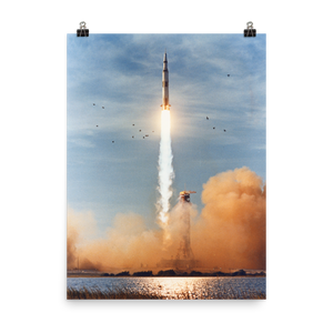 Apollo 8 Liftoff Poster