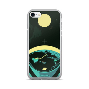 Man and the Moon iPhone Case