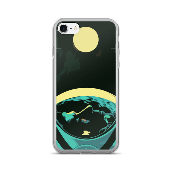 Man and the Moon iPhone Case - 7, 7+