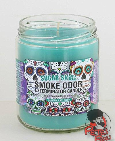 Sugar Skull Smoke Odor Candle, [marijuana], [cannabis], [PetesPipeShop]
