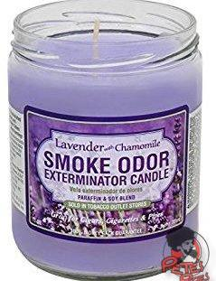 Lavender with Chamomile Smoke Odor Candle, [marijuana], [cannabis], [PetesPipeShop]