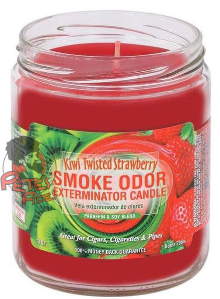 Kiwi Twisted Strawberry Smoke Odor Candle, [marijuana], [cannabis], [PetesPipeShop]