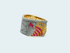 Artistic Gold Plated Bangle