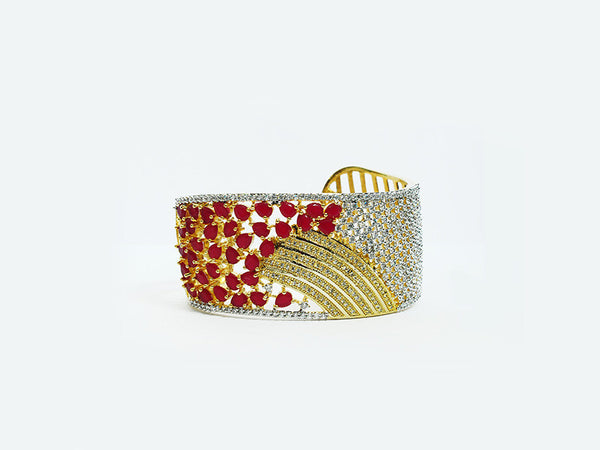 The Stunning Half-Striped Adjustable Bangle