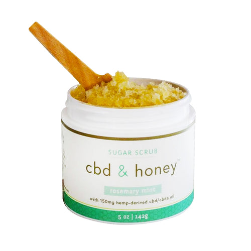 CBD & Honey 150mg Rosemary Mint Sugar Scrub - Hydro Kitty CBD Skincare