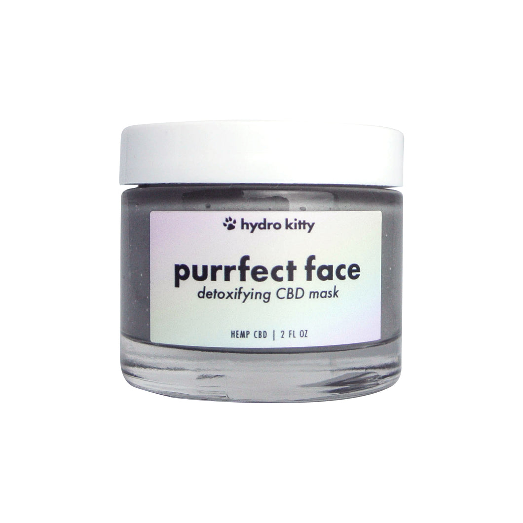 Hydro Kitty Purrfect Face Detoxifying CBD Creme Mask - Hydro Kitty CBD Skincare
