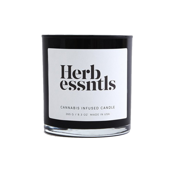 Herb Essentials Cannabis Infused Scented Candle - Hydro Kitty CBD Skincare