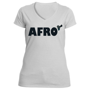 Women's Afro V-Neck Shirt