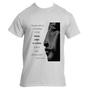 Marcus Garvey Quote Adult Tee Black/White