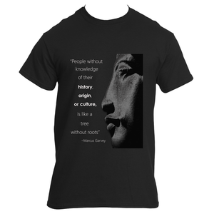 Marcus Garvey Quote Adult Tee White/Black