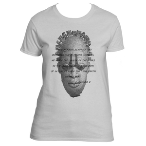 Women's African Inspired Malcom X Quote