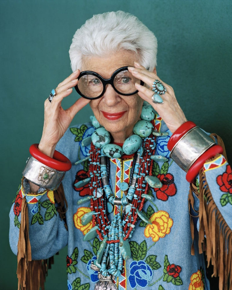 Iris Apfel on Trouvee.Co