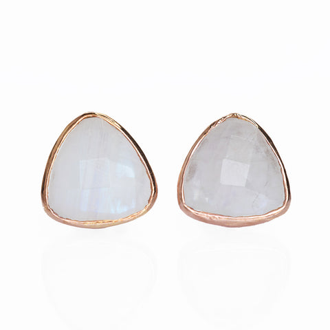 Sophie Rainbow Moonstone Stud Earrings