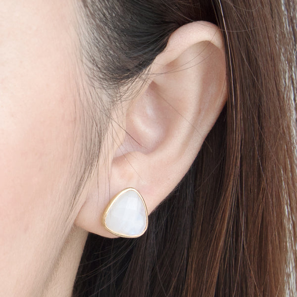 Sophie Rainbow Moonstone Stud Earrings (Running Low)