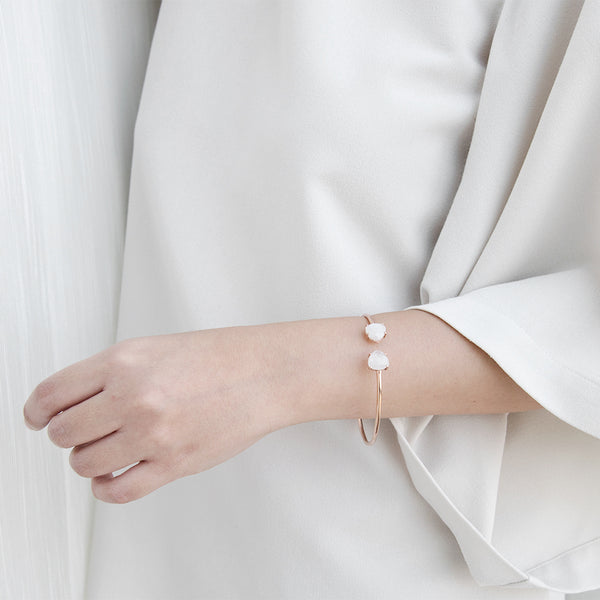 Sophie Moonstone Bracelet in Rose Gold