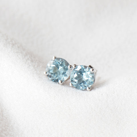 """Katie"" Sky Blue Topaz Stud Earrings (RESTOCKED)"